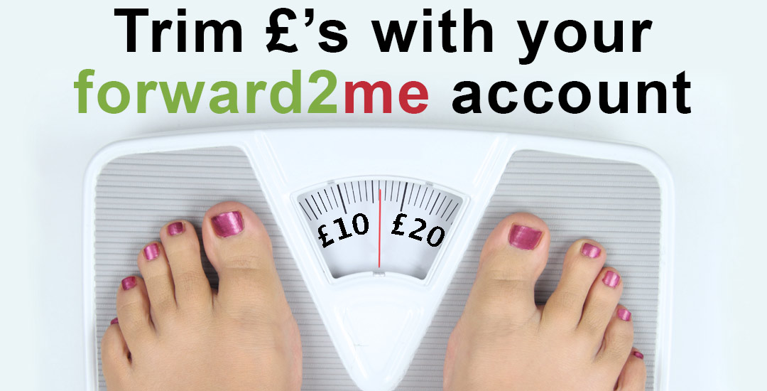 How to trim the £'s with your forward2me account in January