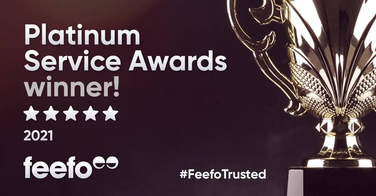 Forward2me receive Feefo Platinum Award